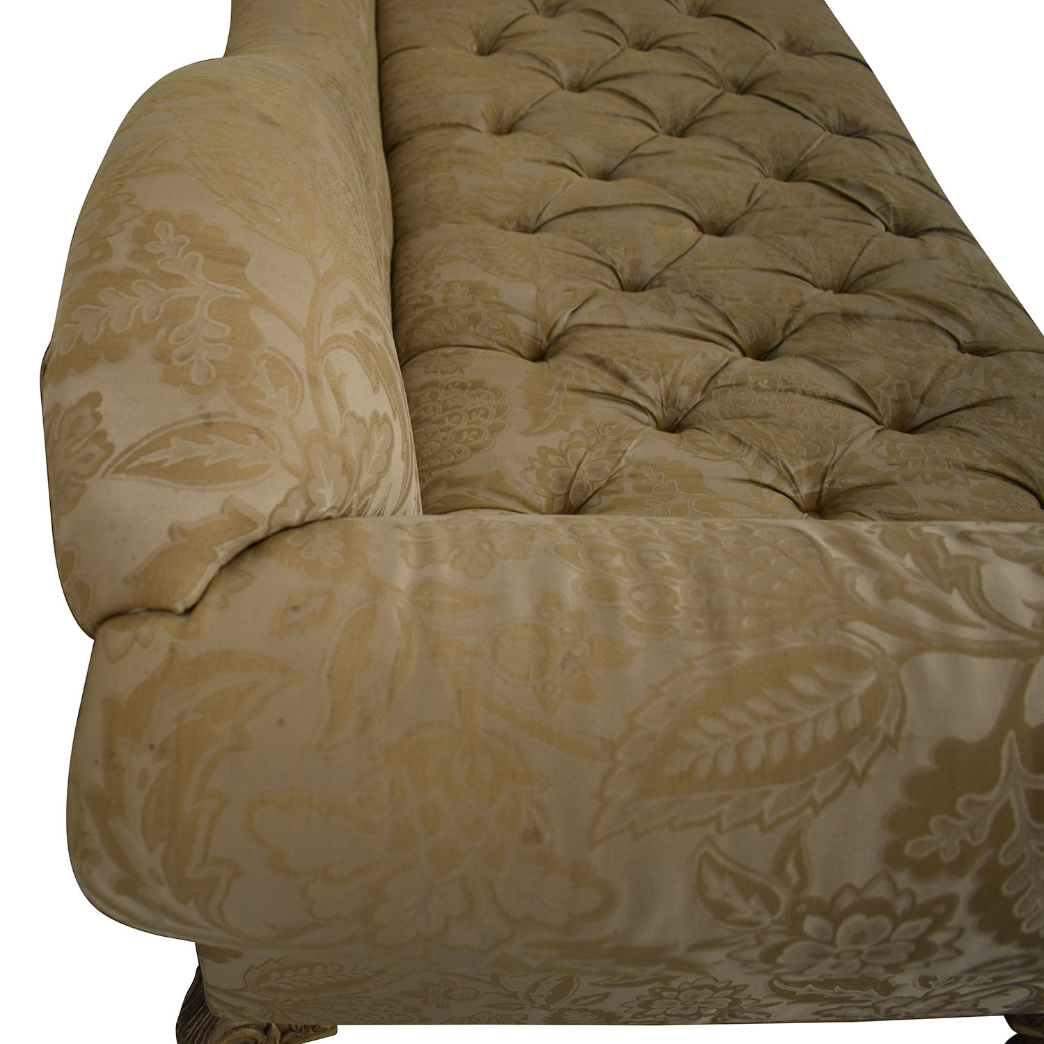 Schnadig Schnadig Beige Jacquard Tufted Chaise Lounge nj