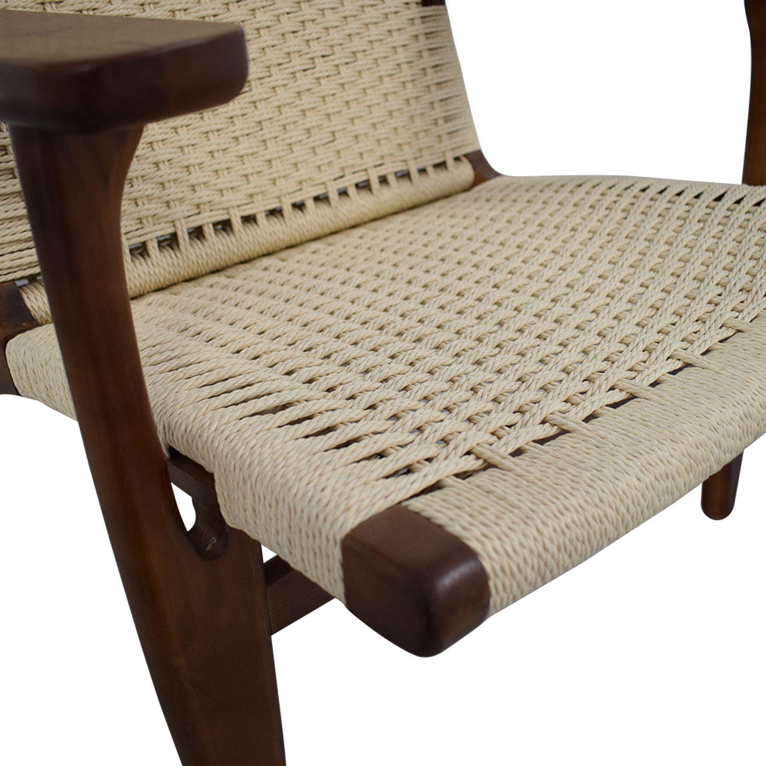 Mid Century Woven Lounger Chair sale