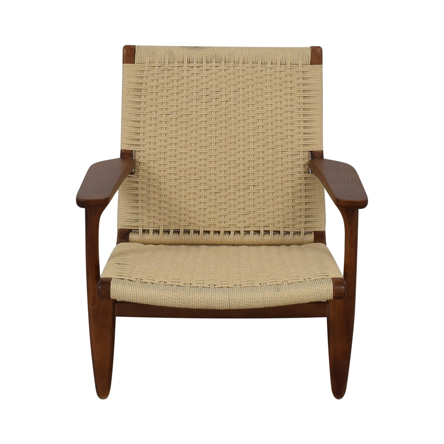 Mid Century Woven Lounger Chair nj