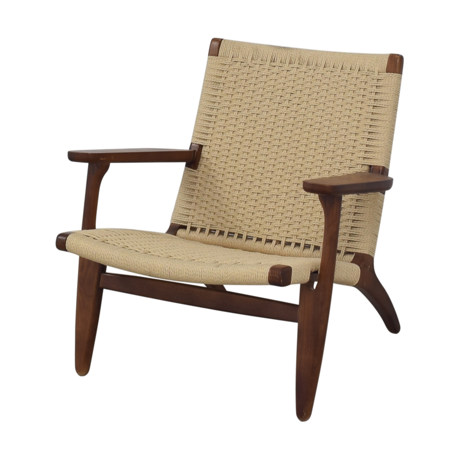 buy Mid Century Woven Lounger Chair  Accent Chairs