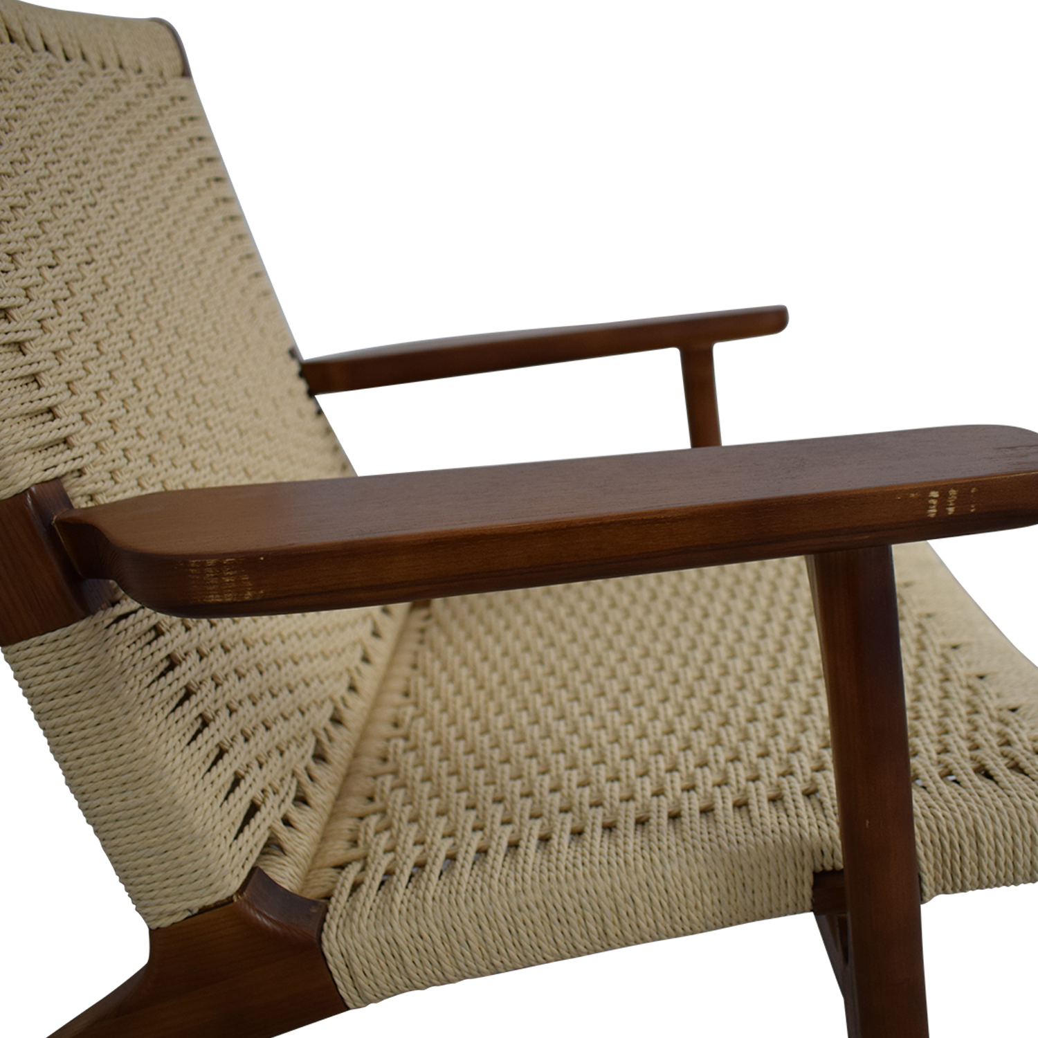 Mid Century Woven Lounger Chair dimensions