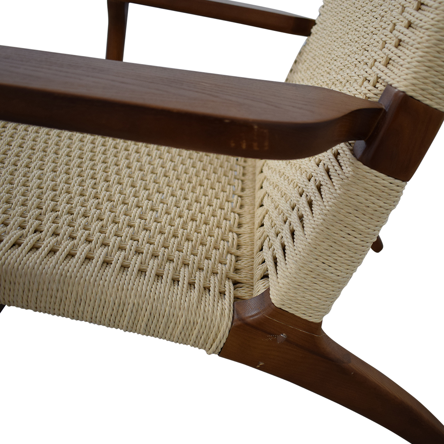 Mid Century Woven Lounger Chair Accent Chairs