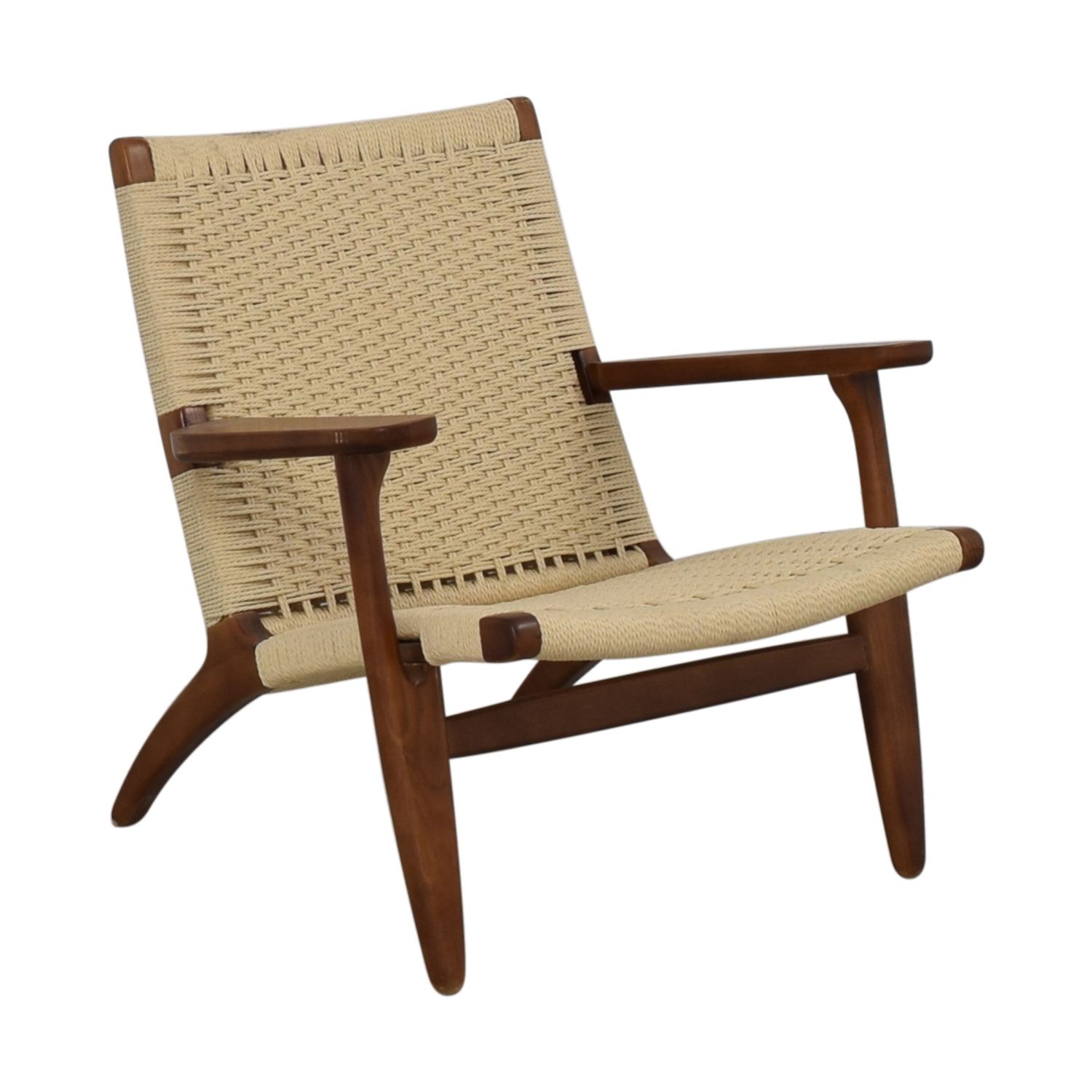 Mid Century Woven Lounger Chair used
