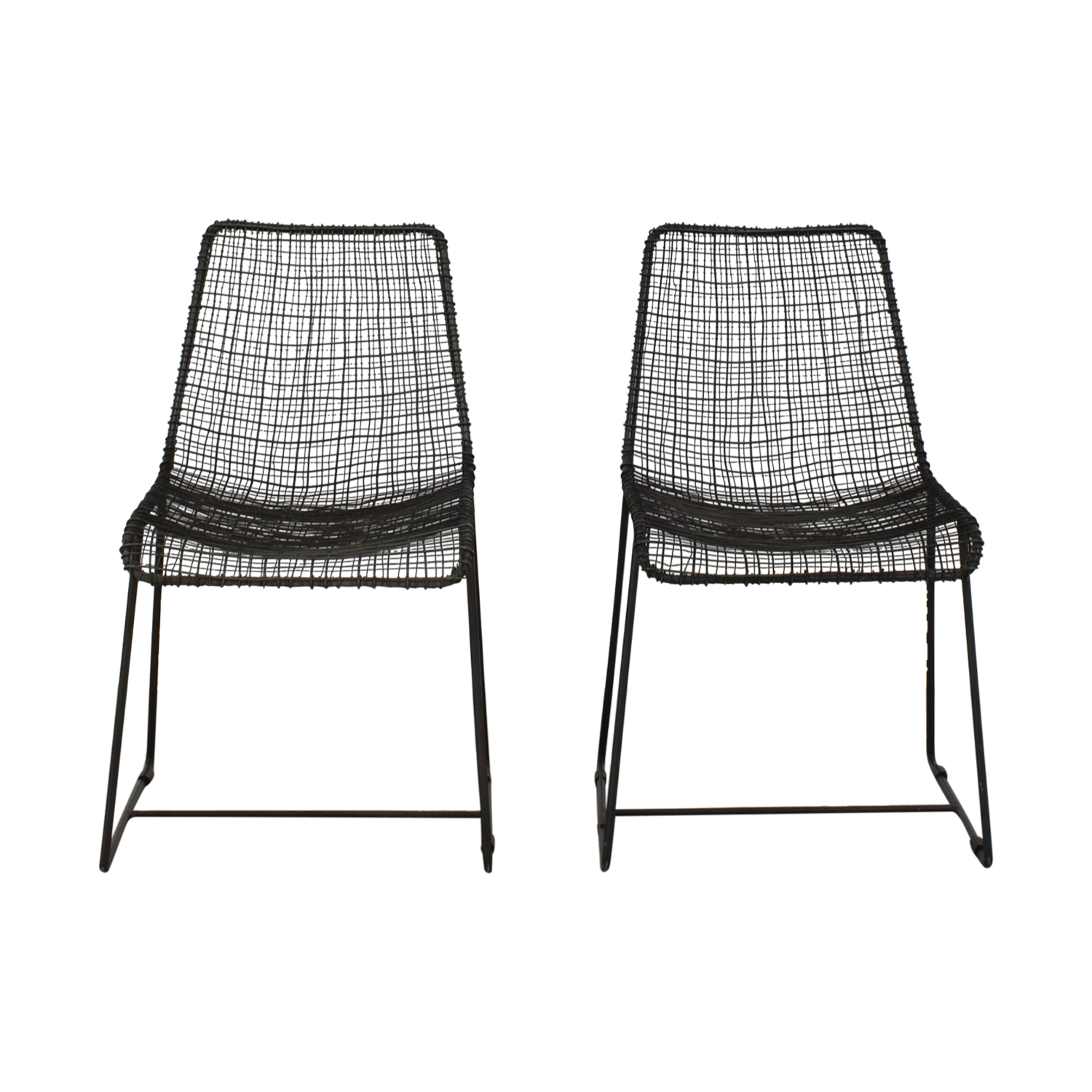CB2 CB2 Modern Metal Wire Chairs nj