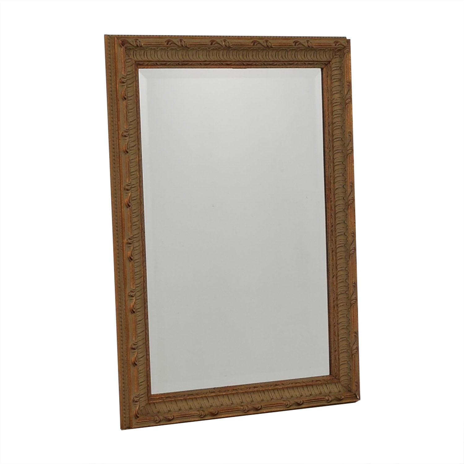 buy Ethan Allen Ethan Allen Worn Red and Beige Mirror online