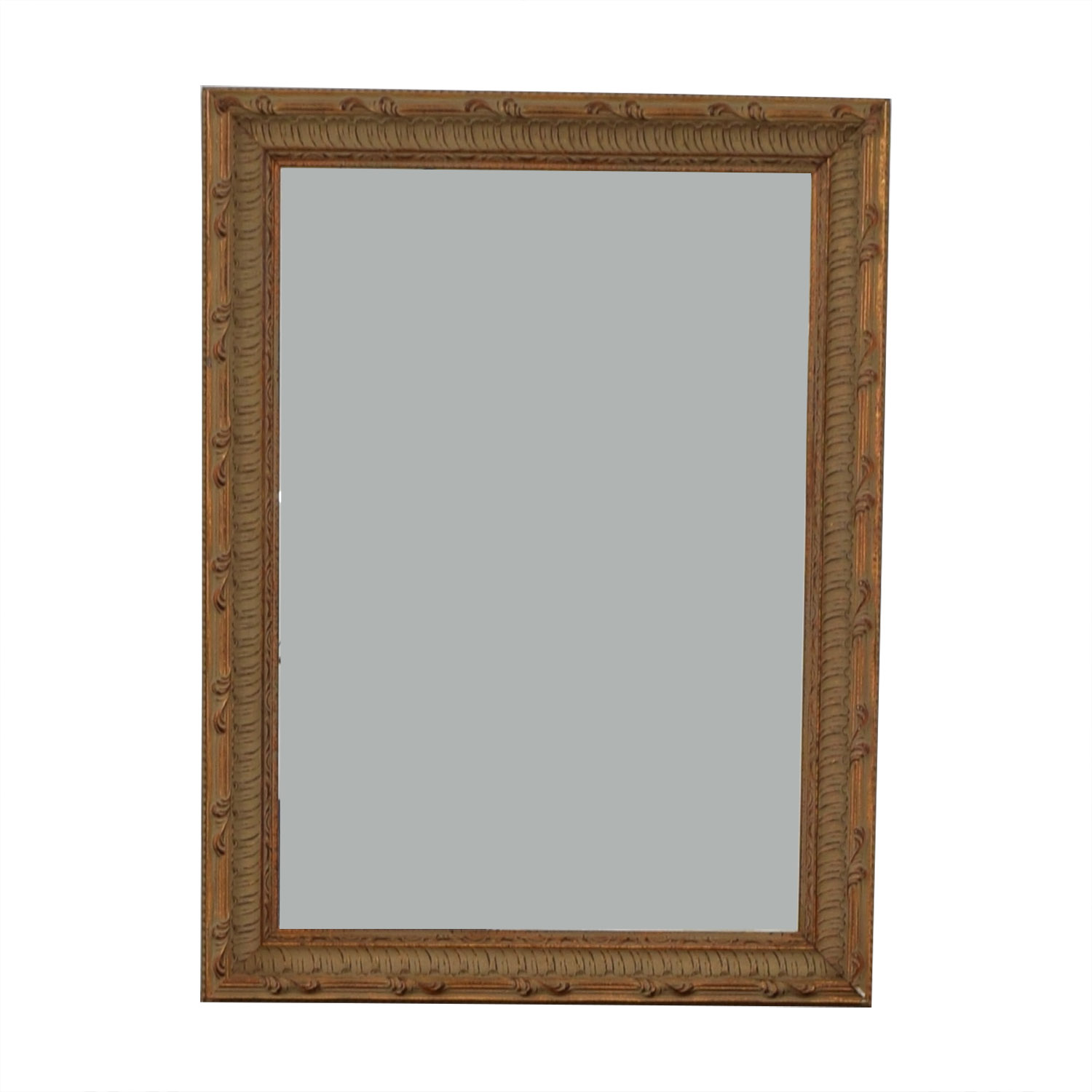 buy Ethan Allen Worn Red and Beige Mirror Ethan Allen Mirrors