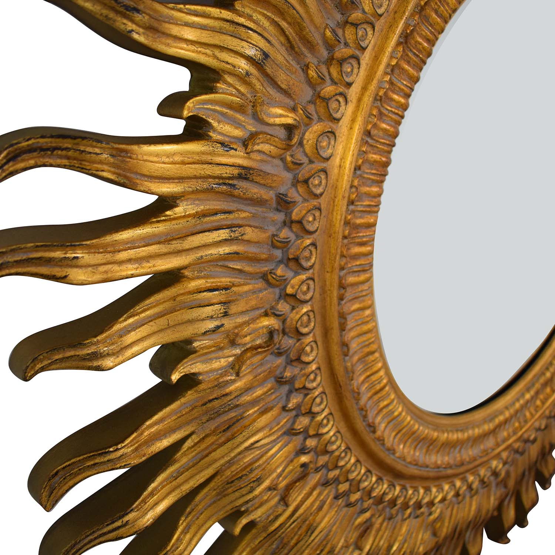 Ethan Allen Ethan Allen Sunburst Mirror gold