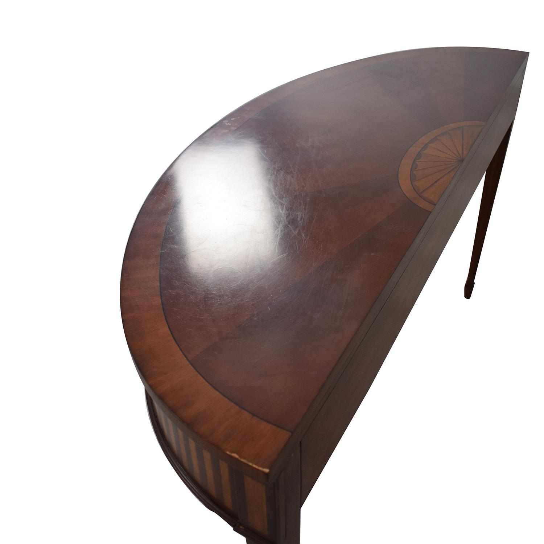 Ethan Allen Ethan Allen Newman Demilune Sofa Table Tables