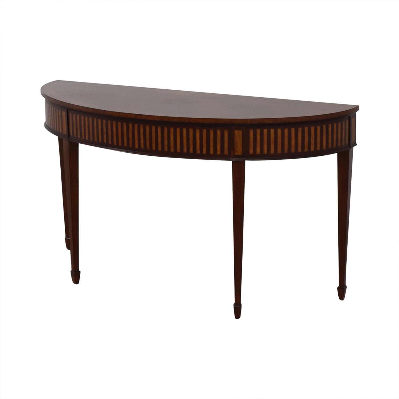 Ethan Allen Ethan Allen Newman Demilune Sofa Table dark brown