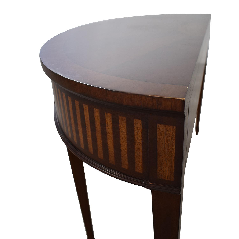 Ethan Allen Ethan Allen Newman Demilune Sofa Table for sale