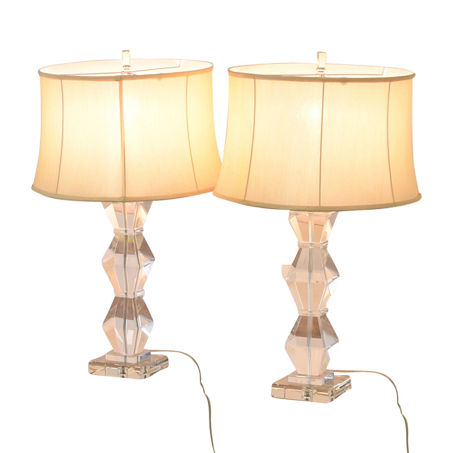 Ethan Allen Ethan Allen Geometric Crystal Table Lamps Lamps