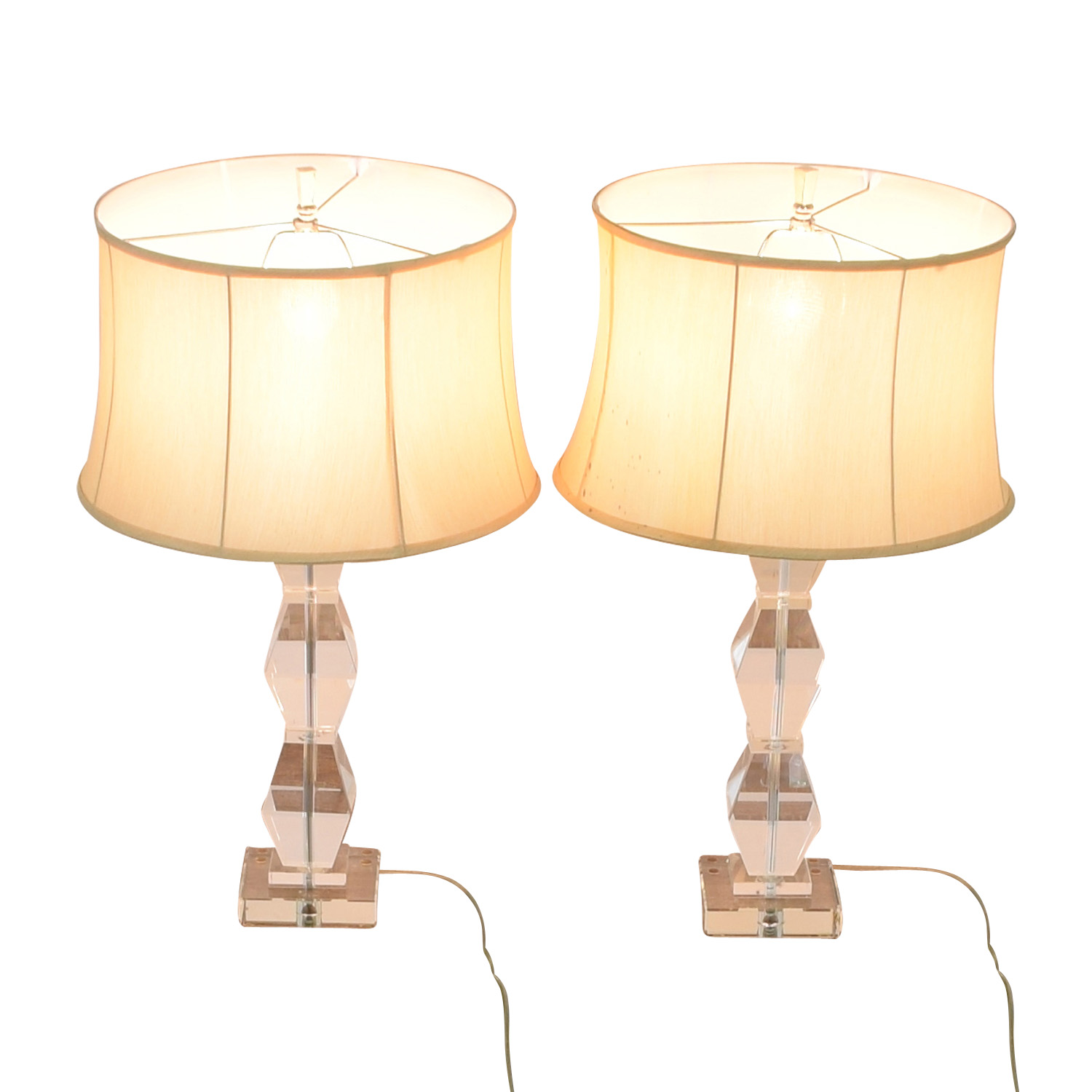 Ethan Allen Ethan Allen Geometric Crystal Table Lamps used