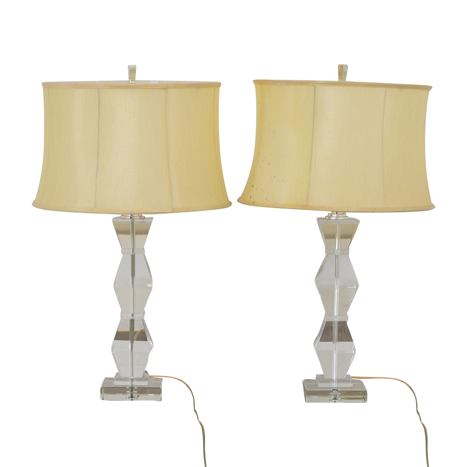 Ethan Allen Ethan Allen Geometric Crystal Table Lamps white