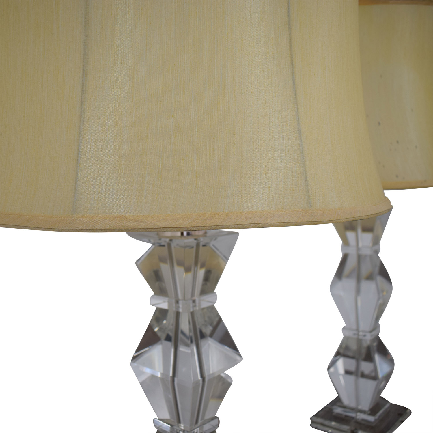 Ethan Allen Ethan Allen Geometric Crystal Table Lamps on sale