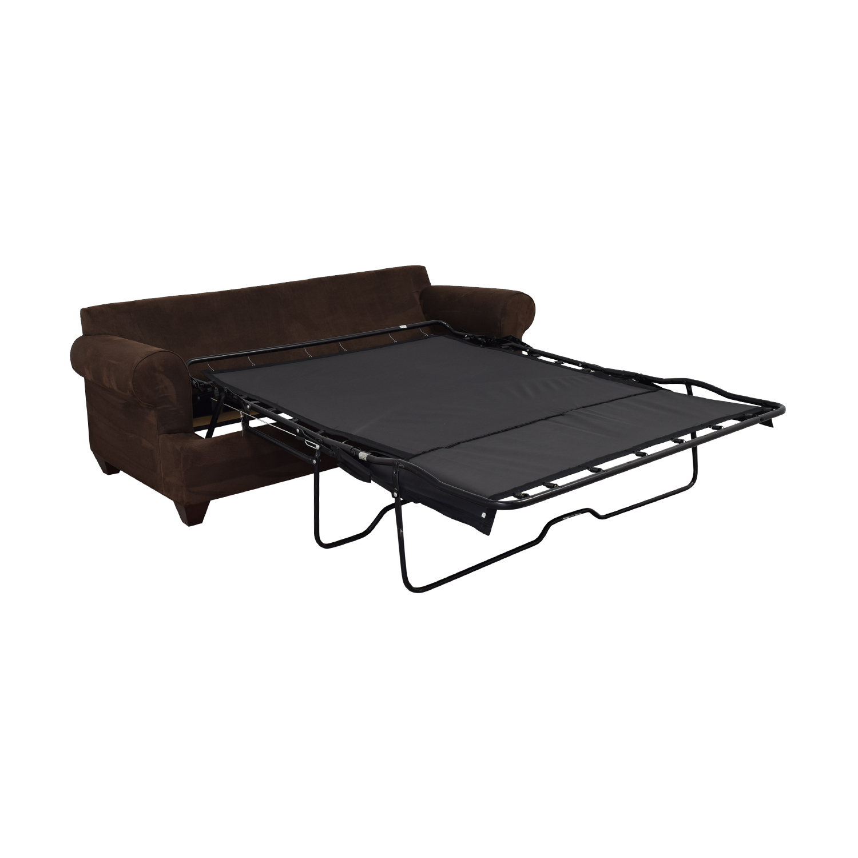 Bauhaus Furniture Bauhaus Furniture Rochester Java Roll-Arm Sofa Bed Brown