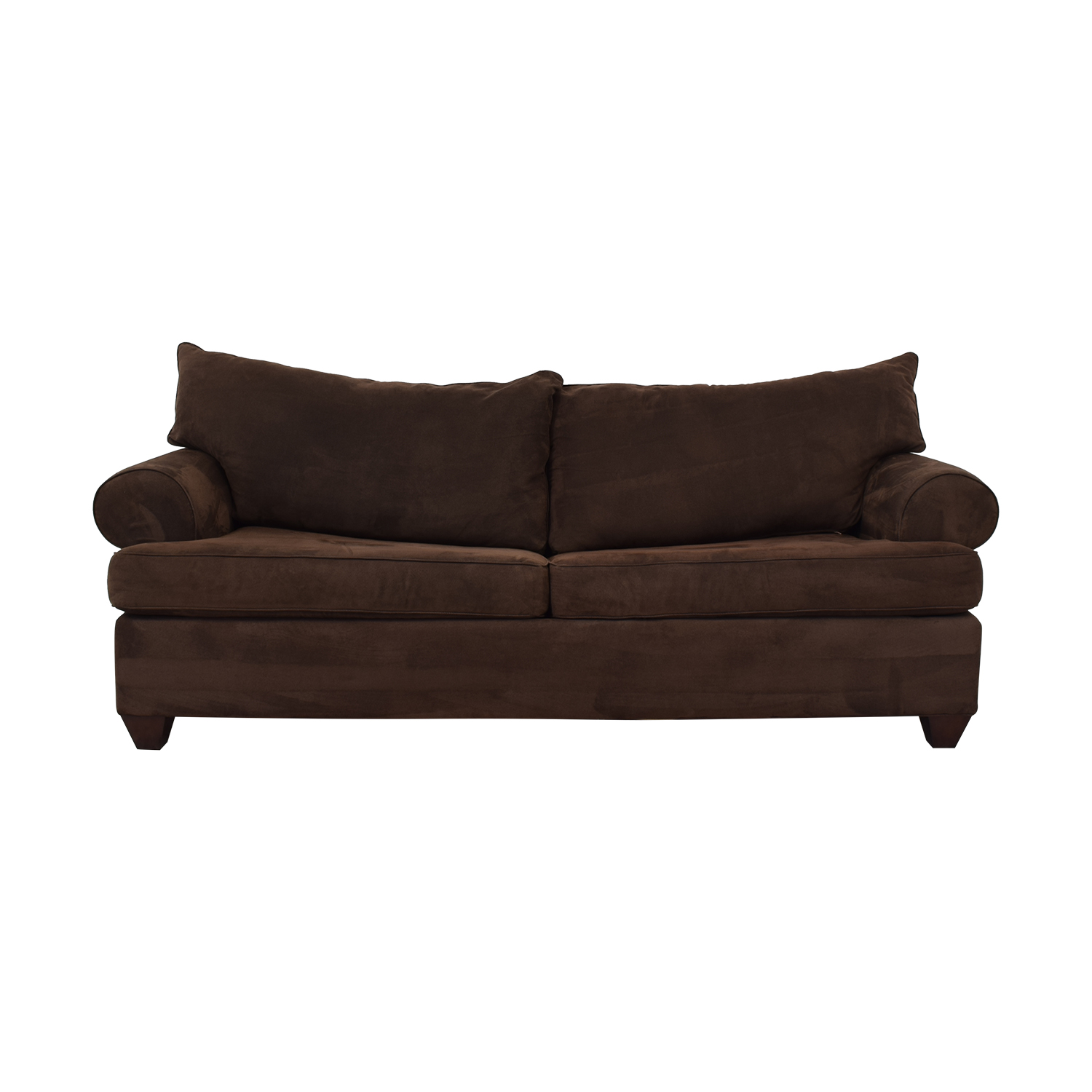 Bauhaus Furniture Bauhaus Furniture Rochester Java Roll-Arm Sofa Bed Brown
