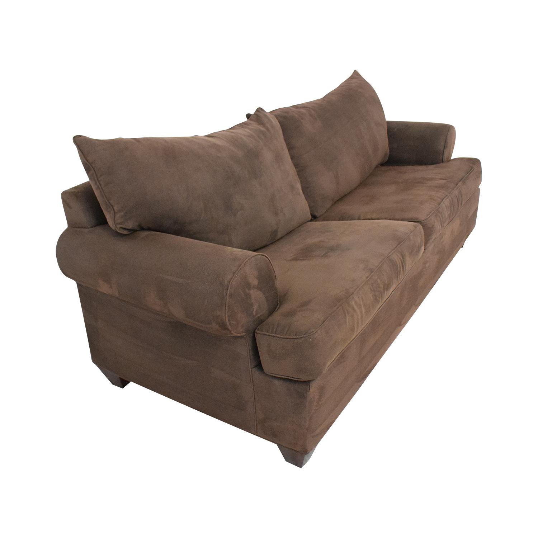 Bauhaus Furniture Bauhaus Furniture Rochester Java Roll-Arm Sofa Bed