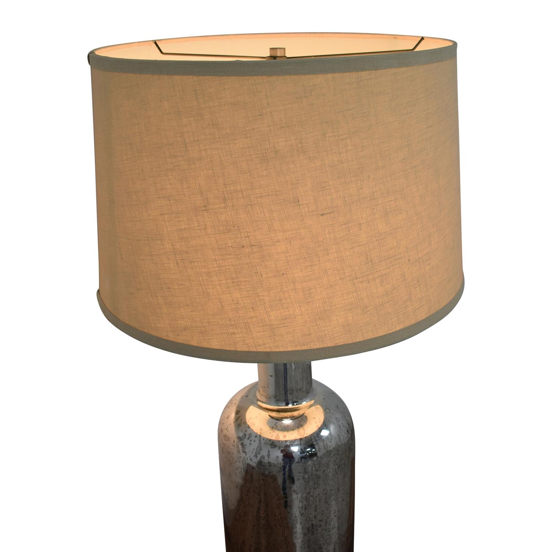 Restoration Hardware 19th C. Vintage Mercury Glass Medium Table Lamp / Decor