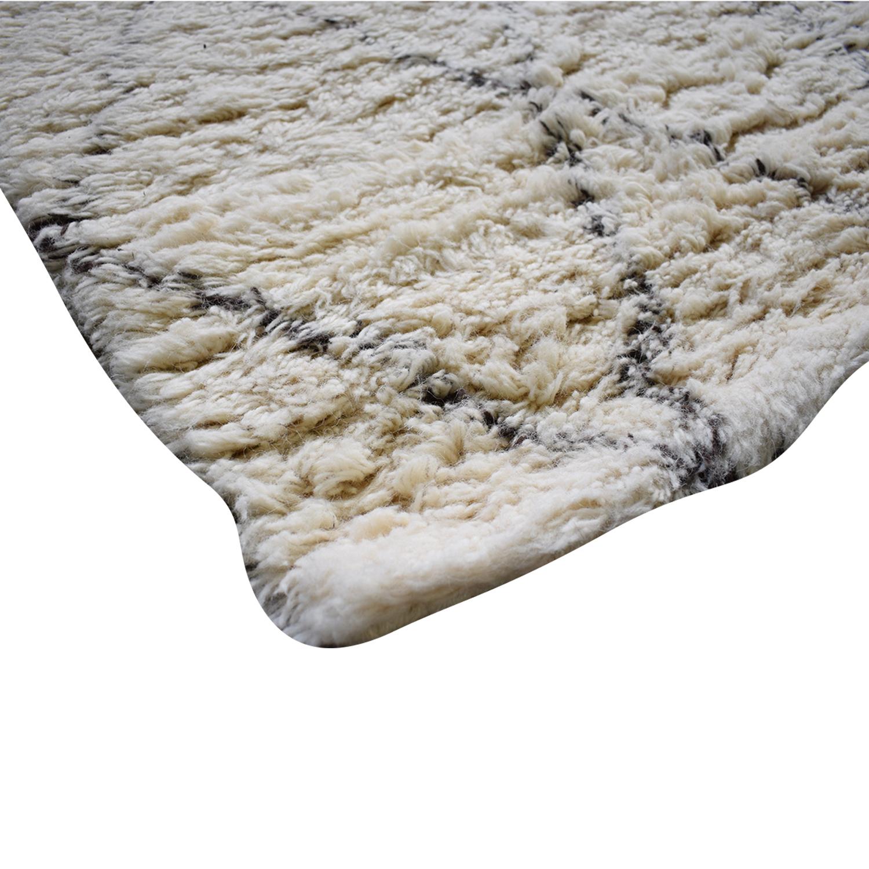 nuLoom Ivory Wool Moroccan Shag Rug / Rugs
