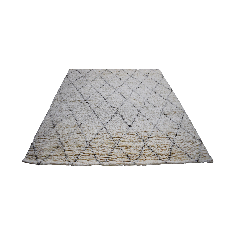 nuLoom Ivory Wool Moroccan Shag Rug sale