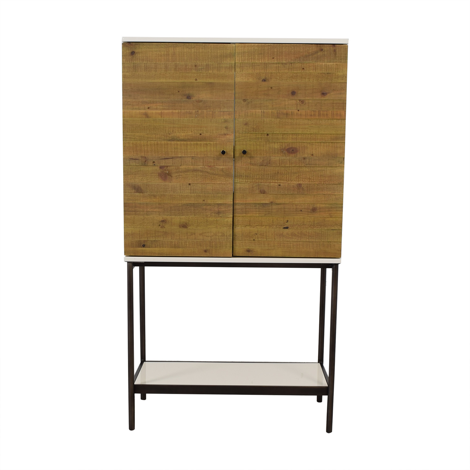 buy West Elm West Elm Reclaimed Wood + Lacquer Tall Media Cabinet online