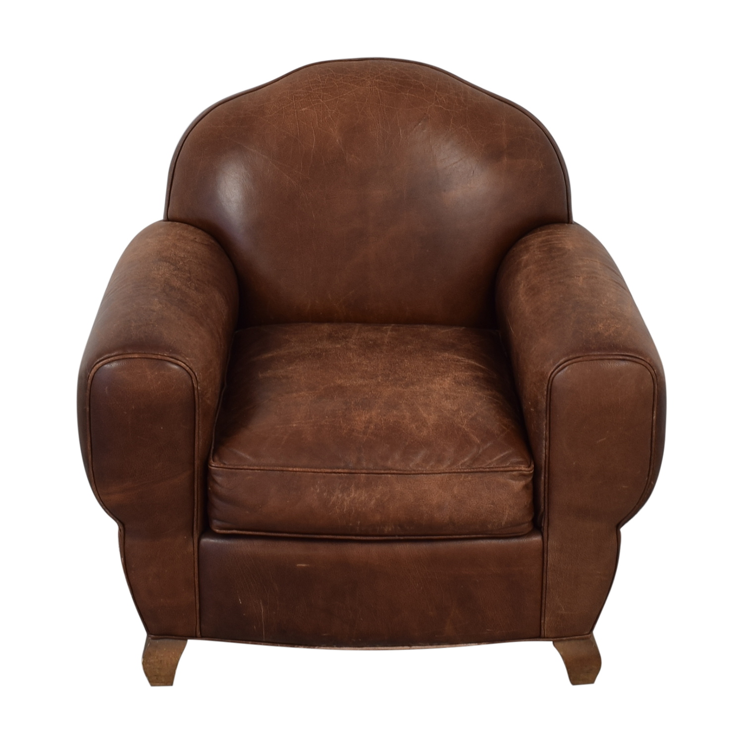 shop Leather Club Chair  Accent Chairs