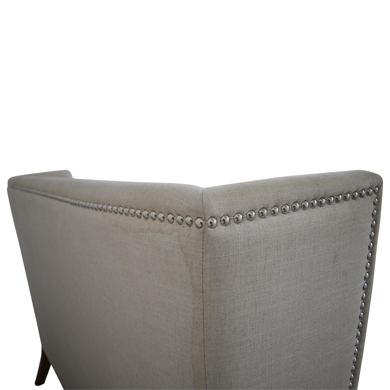 Sunpan Sunpan '5West' Malibu Linen Fabric Upholstered Loveseat beige