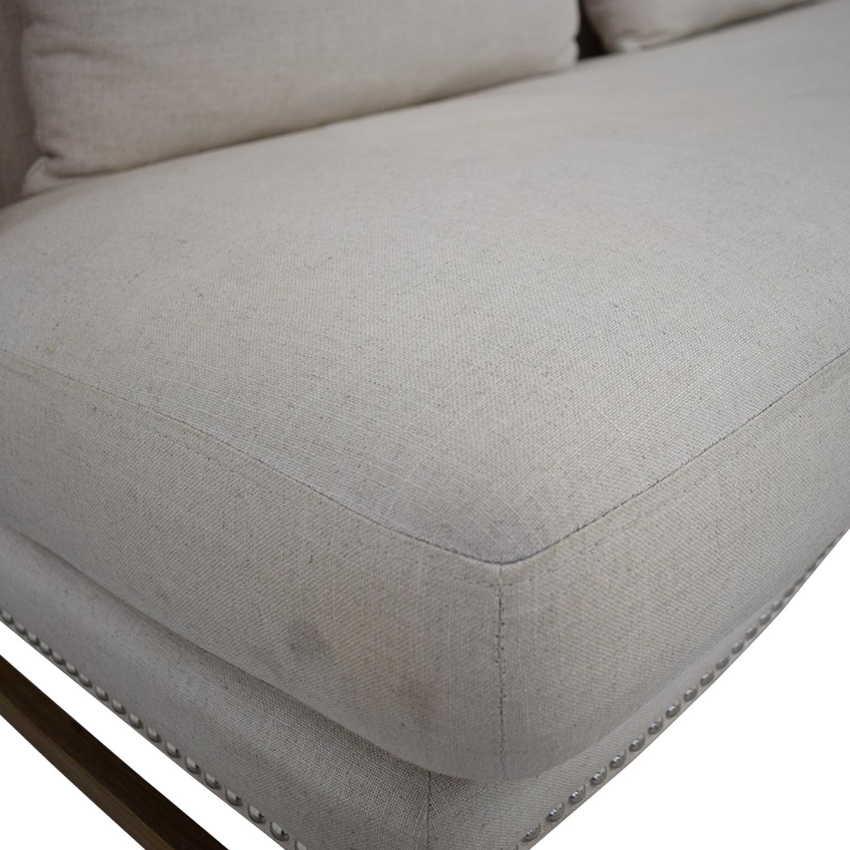 buy Sunpan '5West' Malibu Linen Fabric Upholstered Loveseat Sunpan Loveseats