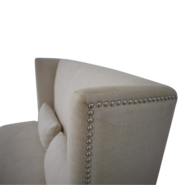 Sunpan Sunpan '5West' Malibu Linen Fabric Upholstered Loveseat nj