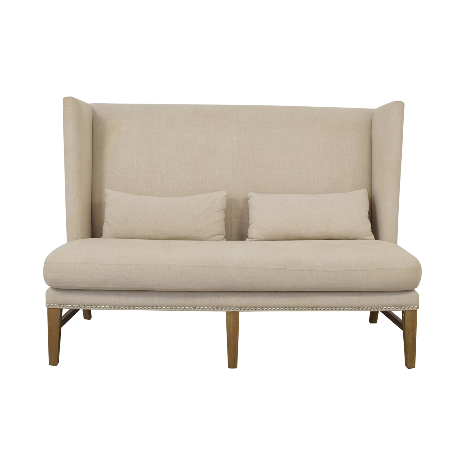 buy Sunpan '5West' Malibu Linen Fabric Upholstered Loveseat Sunpan Sofas