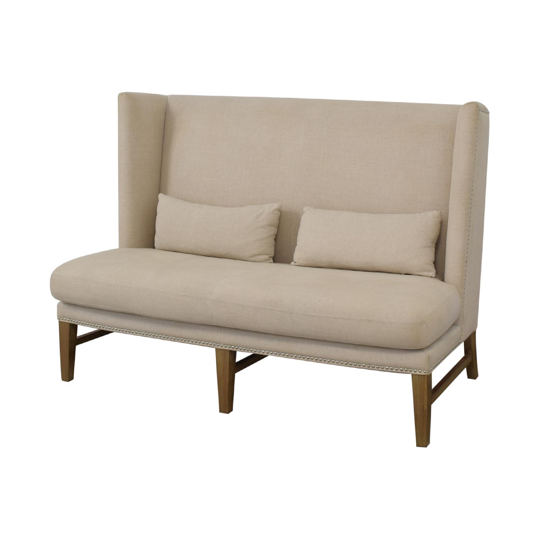 Sunpan Sunpan '5West' Malibu Linen Fabric Upholstered Loveseat for sale