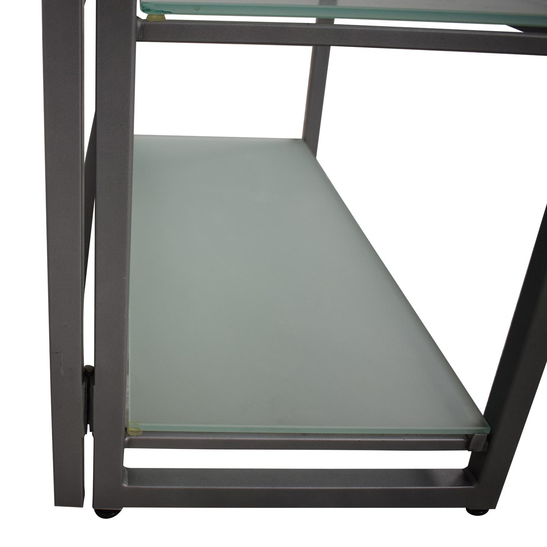 buy Jensen-Lewis Jensen-Lewis Glass Bookcase online