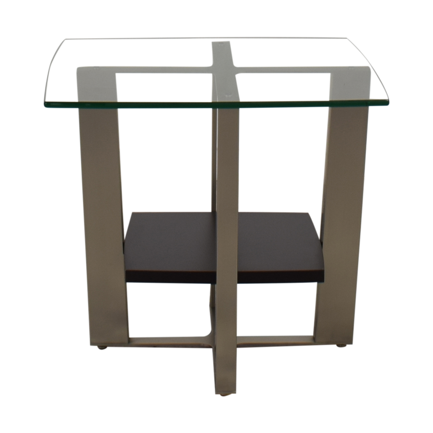 Jensen-Lewis BDI Glass End Table / Tables