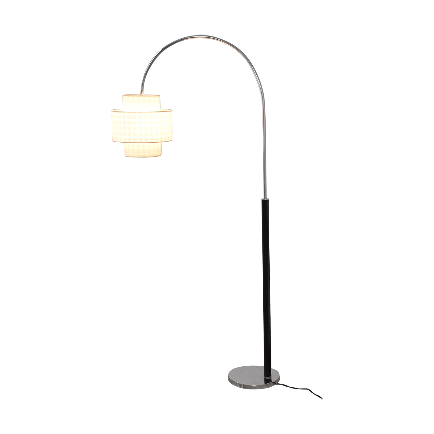 Standing Floor Lamp with Two Section Shade discount