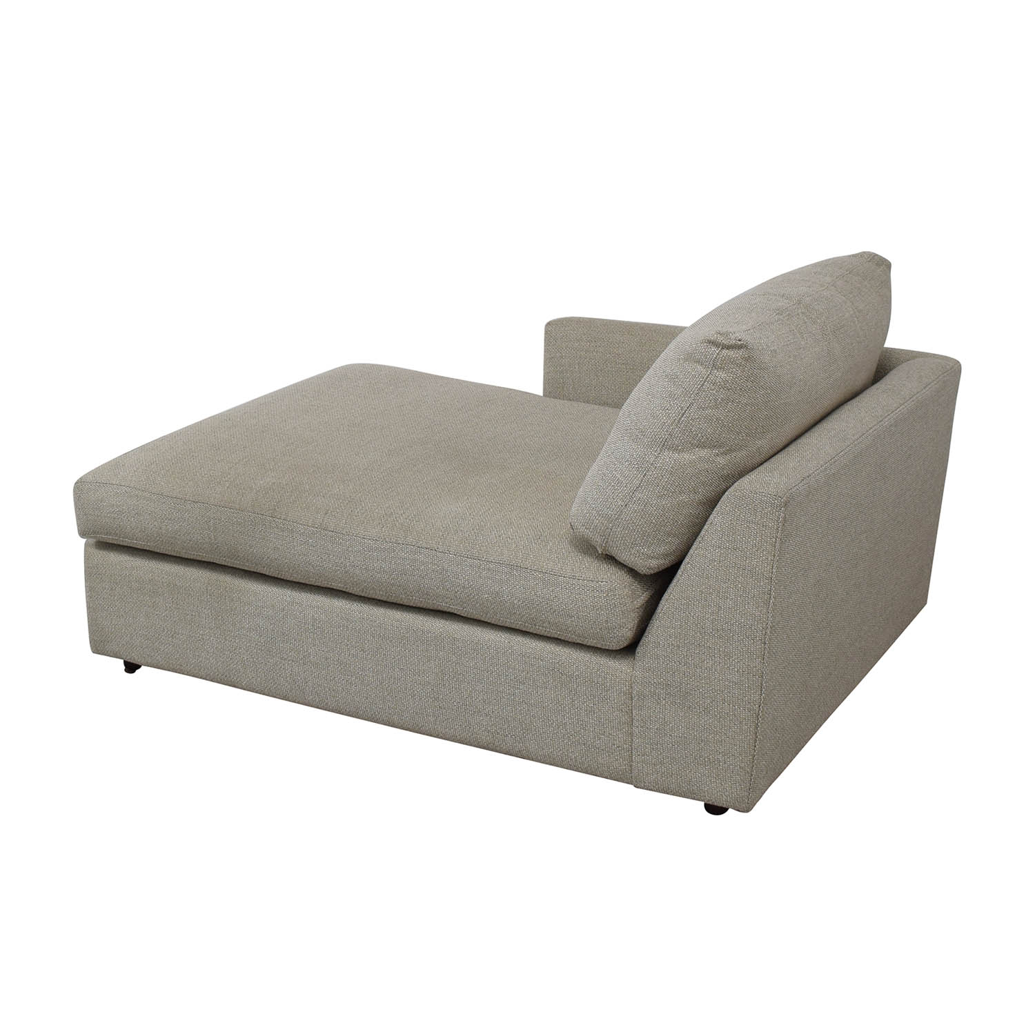 Crate & Barrel Crate & Barrel Lounge II Left Arm Chaise grey