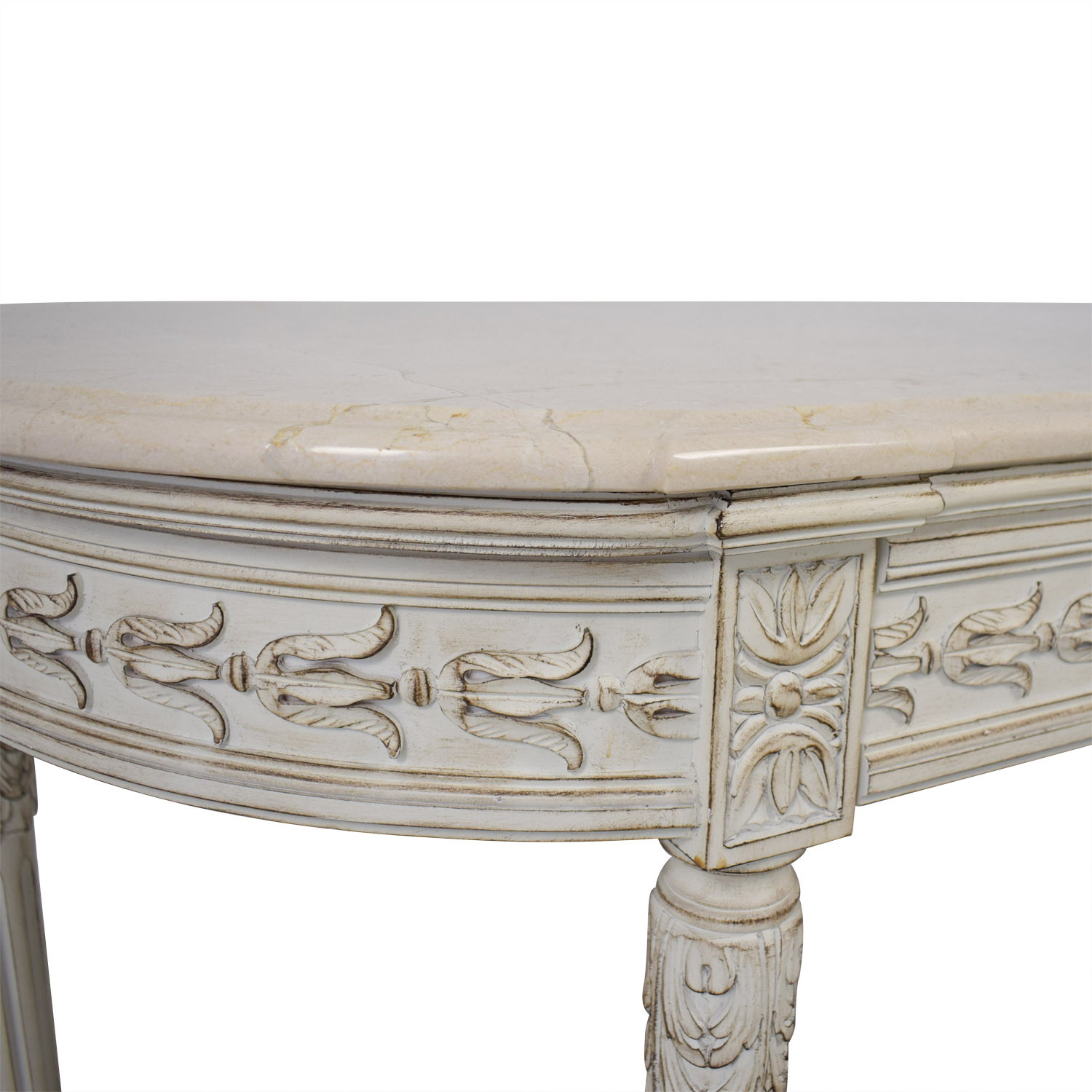 Louis J. Solomon Louis J. Solomon Louis XVI Console with Center Drawer Chairs