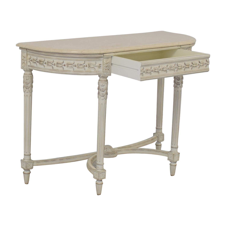 Louis J. Solomon Louis XVI Console with Center Drawer sale