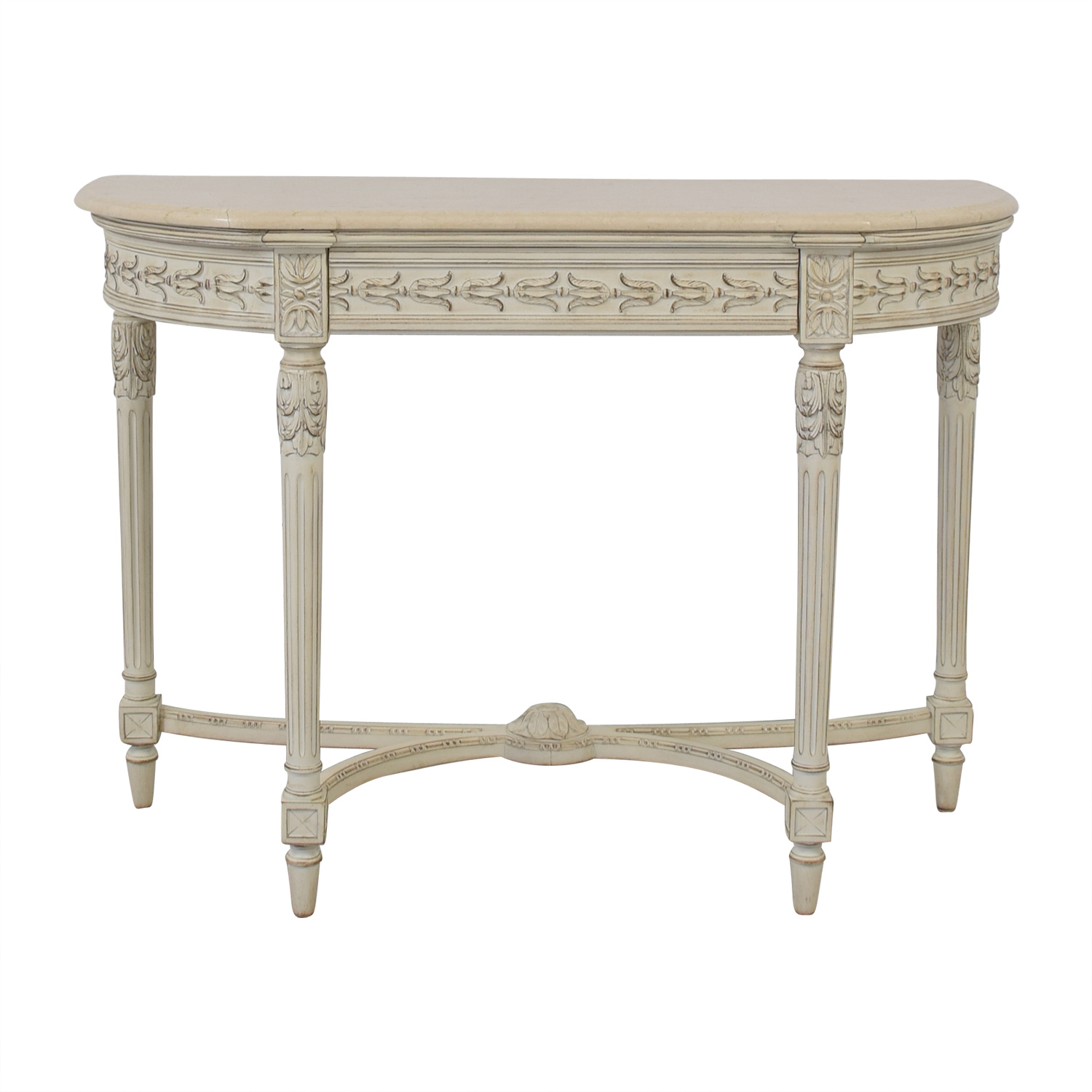 buy Louis J. Solomon Louis XVI Console with Center Drawer Louis J. Solomon Chairs