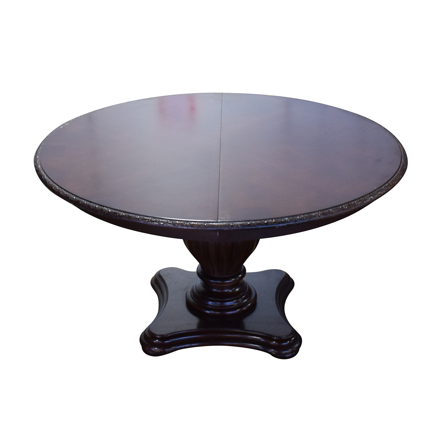 Bernhardt Embassy Row Cherry Carved Wood Dining Table sale