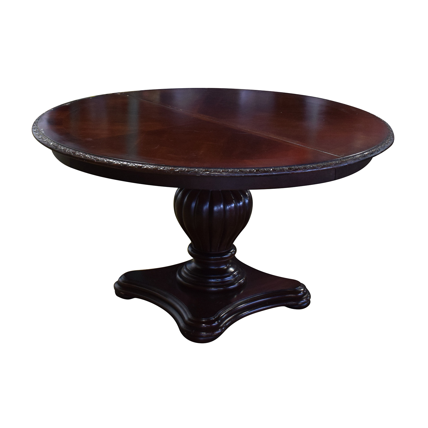 shop Bernhardt Embassy Row Cherry Carved Wood Dining Table Bernhardt