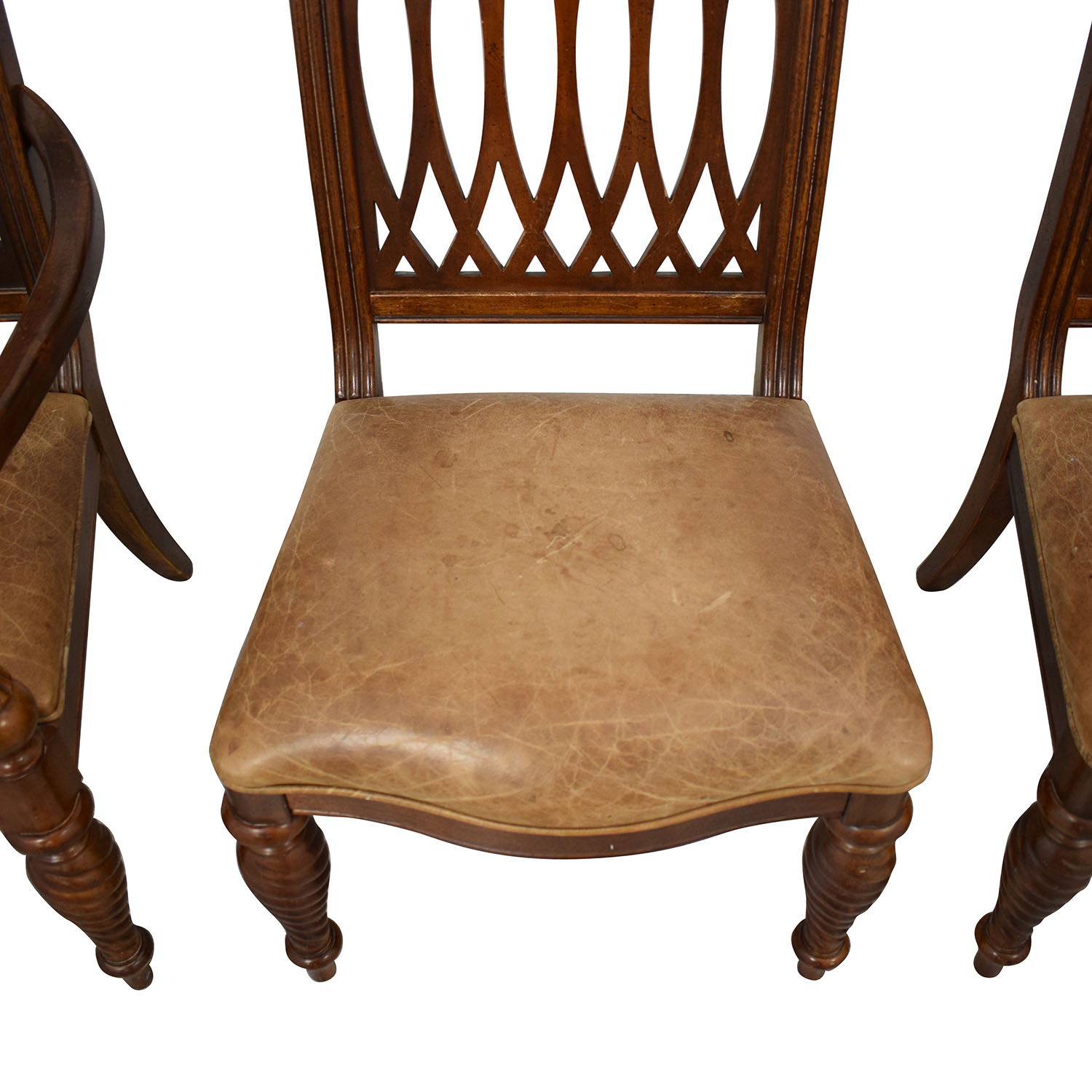 Bernhardt Bernhardt Embassy Row Cherry Carved Wood Dining Chairs Dining Chairs