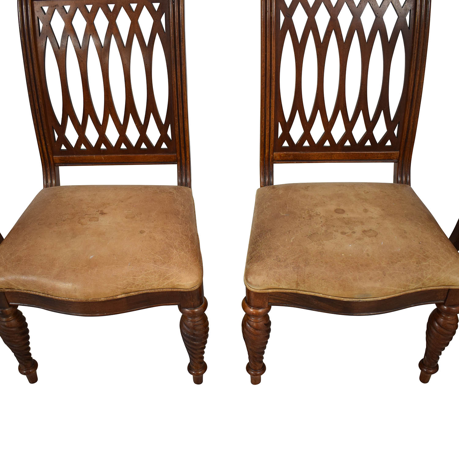 81 Off Bernhardt Bernhardt Embassy Row Cherry Carved Wood Dining Chairs Chairs