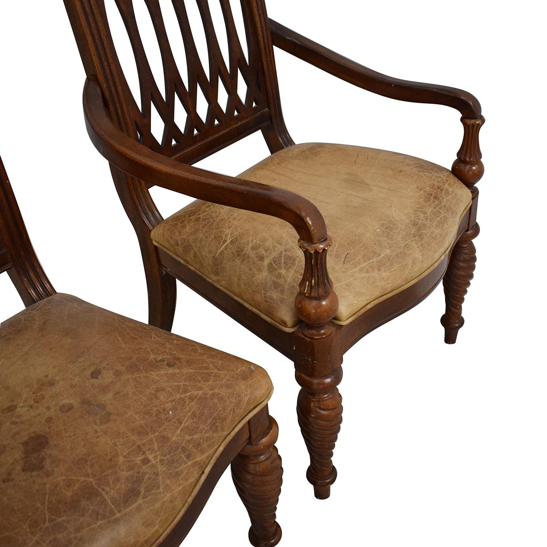 Bernhardt Bernhardt Embassy Row Cherry Carved Wood Dining Chairs discount