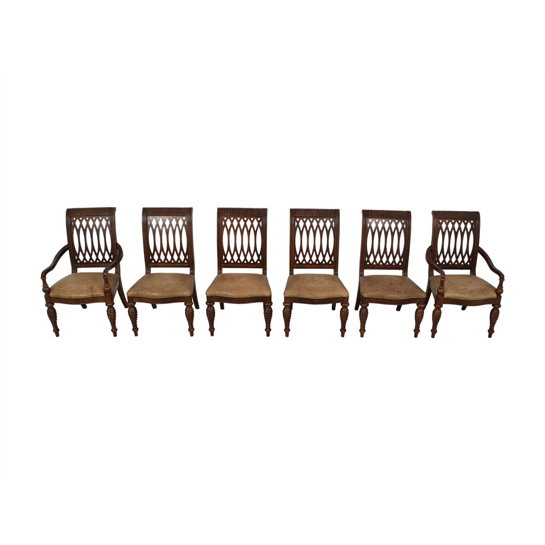 Bernhardt Bernhardt Embassy Row Cherry Carved Wood Dining Chairs