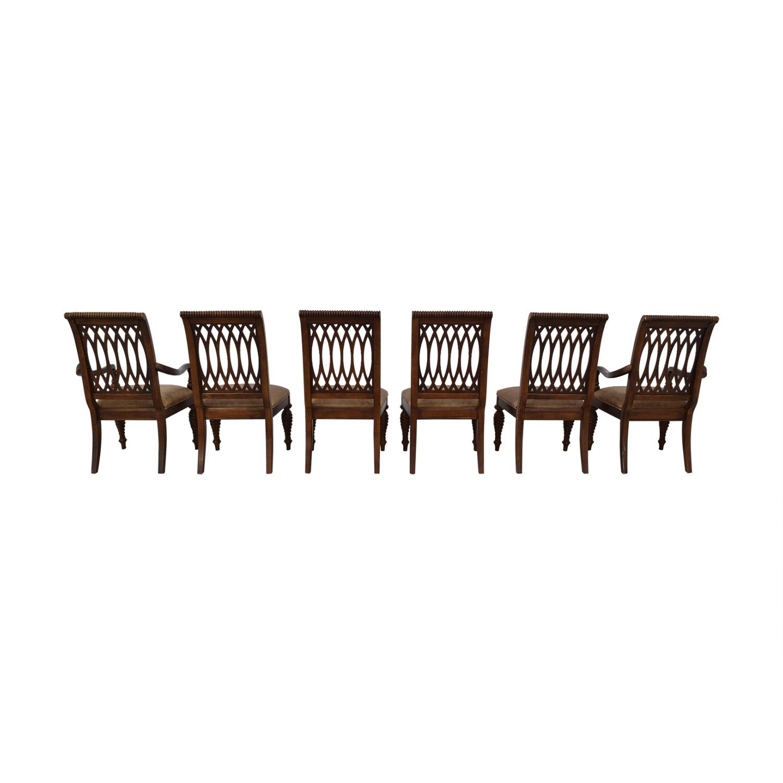 Bernhardt Bernhardt Embassy Row Cherry Carved Wood Dining Chairs second hand