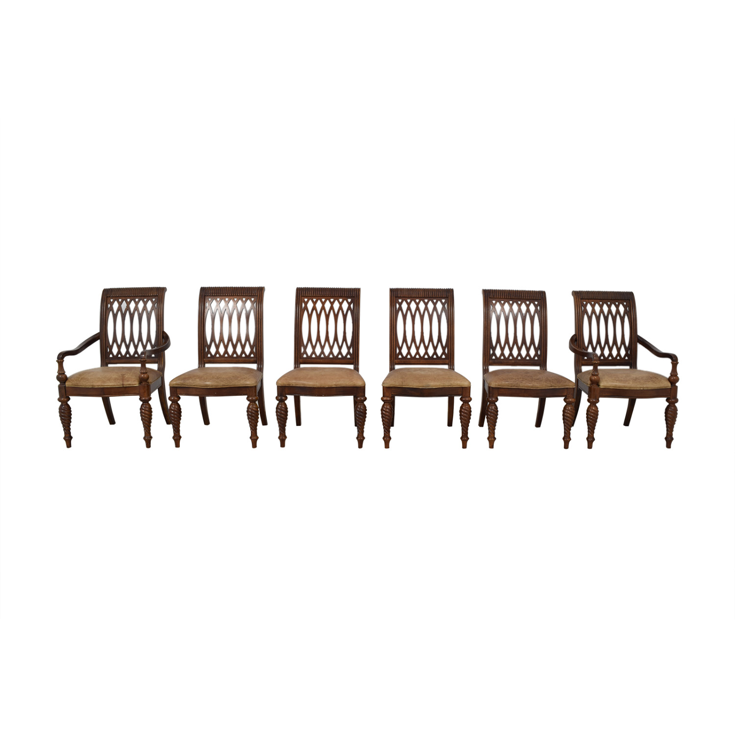 Bernhardt Embassy Row Cherry Carved Wood Dining Chairs / Chairs