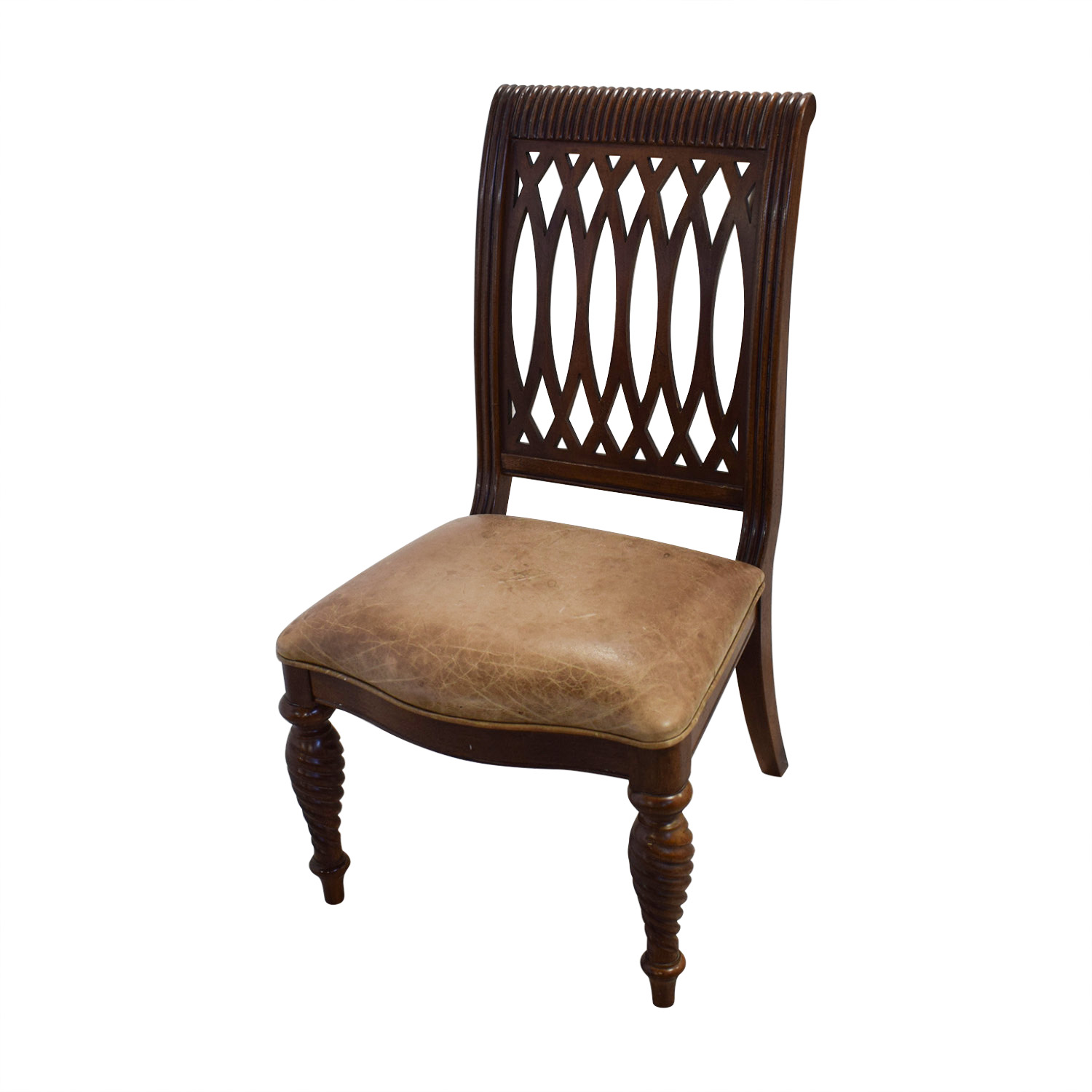 Bernhardt Embassy Row Cherry Carved Wood Dining Chairs / Dining Chairs