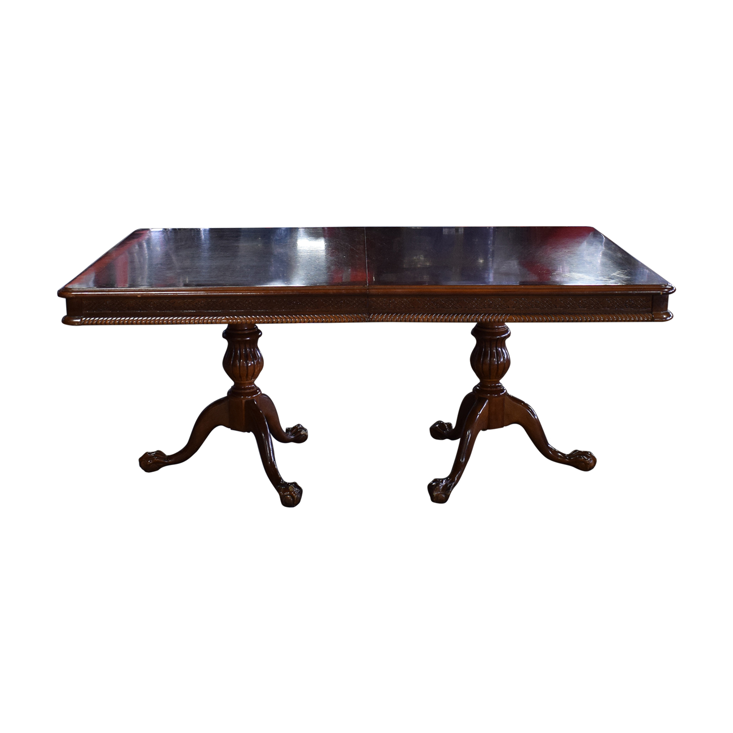 Carved Wood Dining Table with Two Extensions price