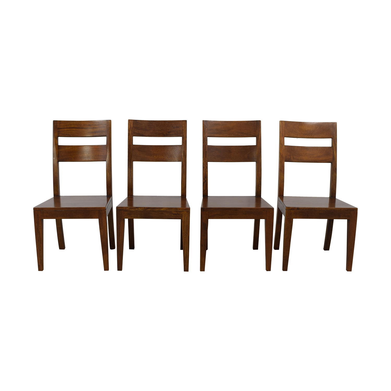 Crate & Barrel Crate & Barrel Basque Honey Dining Chairs discount