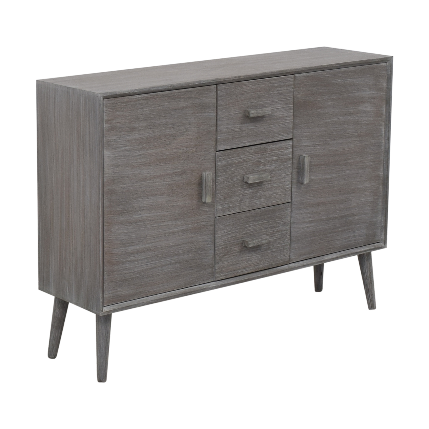 Grey Cabinet with Three Drawers used